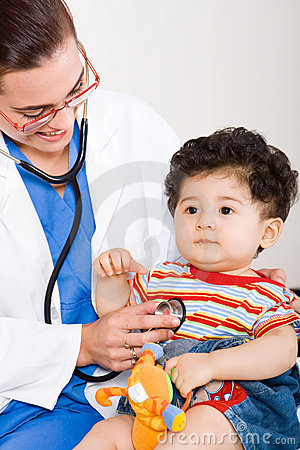 Doctor and child