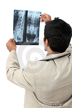 Doctor examining the X-ray