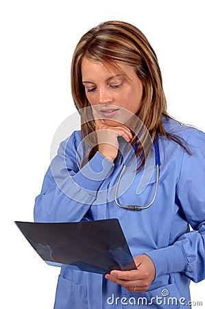 Doctor Examining X Rays