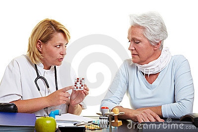Doctor explaining medication