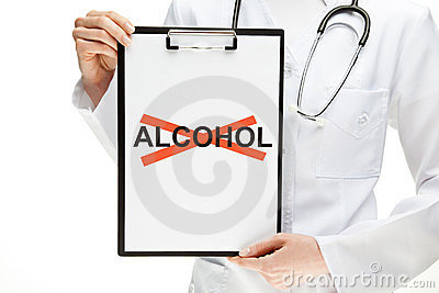 Doctor forbidding alcohol