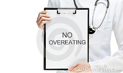 Doctor forbidding overeating