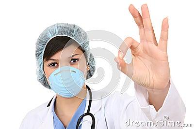 Doctor gesturing okay