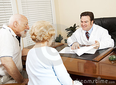 Doctor Gives Good News to Patient