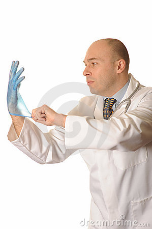 Doctor with glove