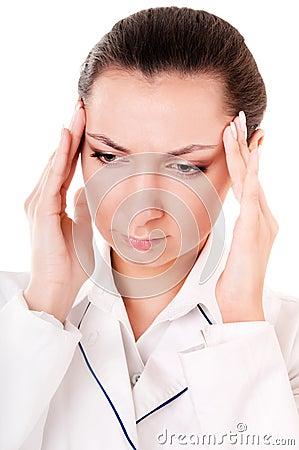 Doctor with headache