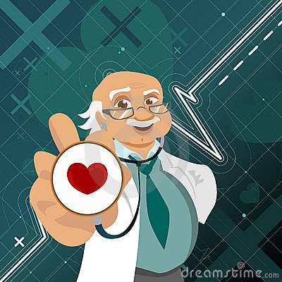 Doctor with health symbol