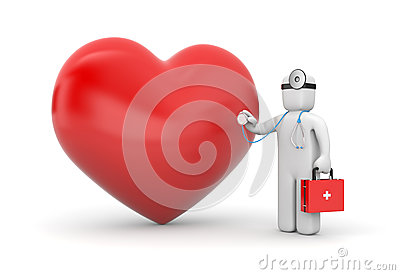 Doctor with heart and stethoscope