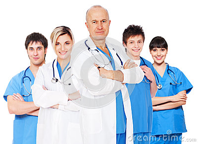 Doctor and his team