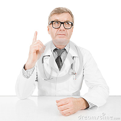 Doctor at his working desk - 1 to 1 ratio image