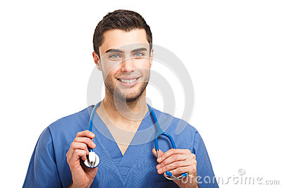 Doctor holding his stethoscope