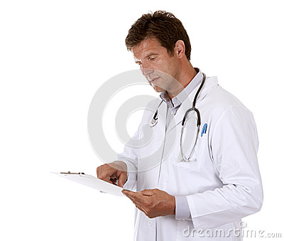 Doctor holding notes