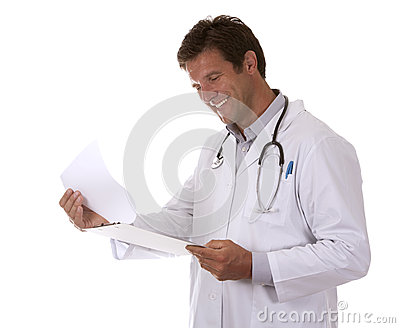 Doctor Holding Notes Stock Images - Image: 26533594
