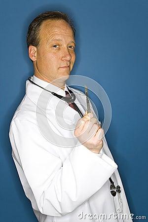 Doctor holding scalpel