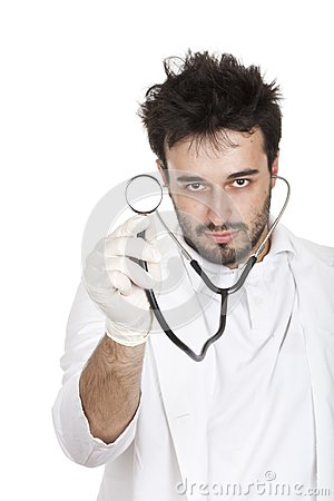 Doctor holding a stetoscope