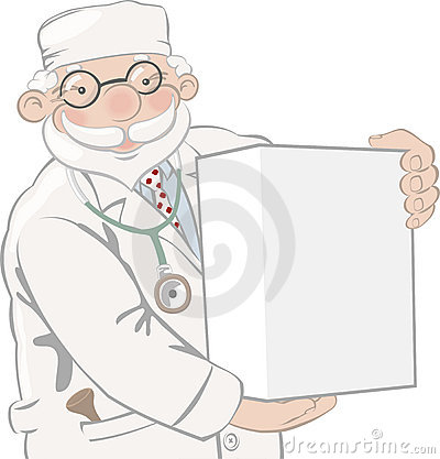 Doctor holds box