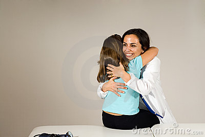 Doctor Hugs Girl- Horizontal