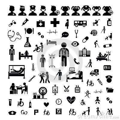 Free Doctor Icon And Hospital Stock Images - 51427104