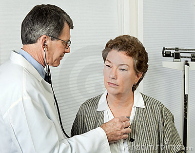 Doctor Listens to Patient s Heart