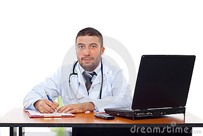 Doctor man in his office