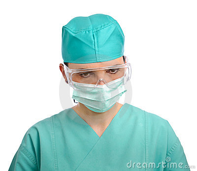 Doctor with mask and glasses