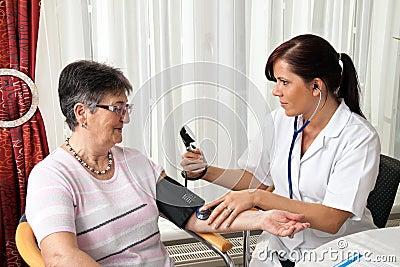 Doctor measuring