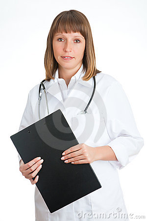 Doctor with a notebook