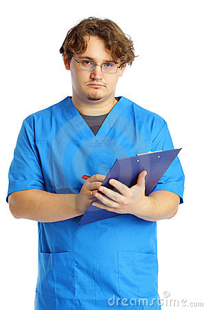 Doctor with notepad