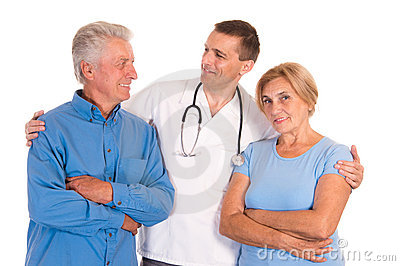 doctor with old patients