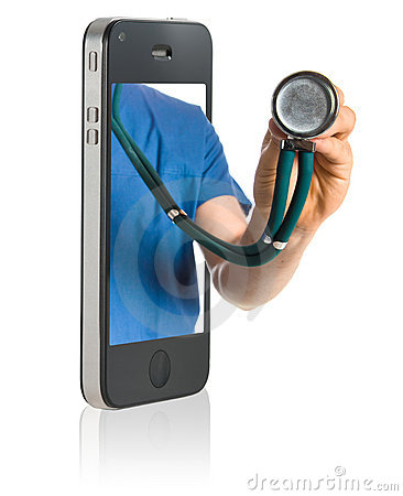 Free Doctor On Smart Phone Royalty Free Stock Photos - 15833528