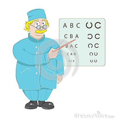 The doctor the ophthalmologist