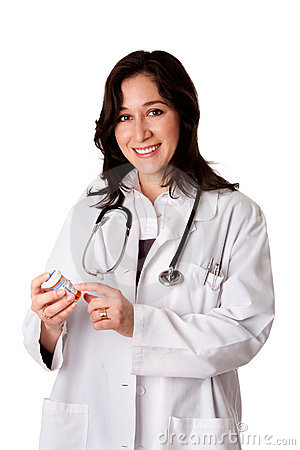 Doctor pharmacist explaining medication