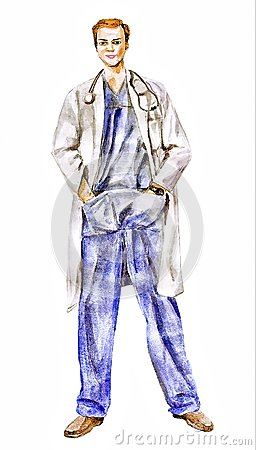 Doctor (physician trust a man who) illustration