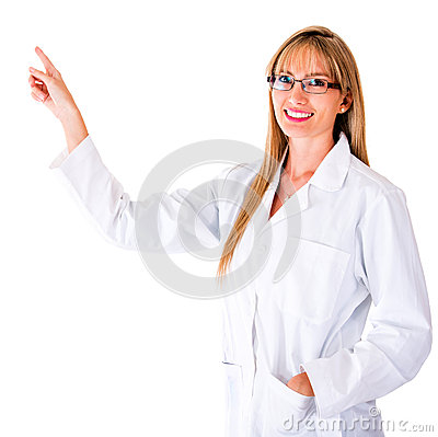 Doctor pointing something