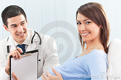 Doctor and pregnant patient