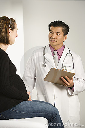 Doctor and pregnant woman
