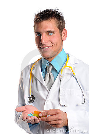 Doctor With Prescription Drugs
