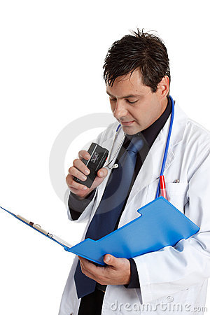 Doctor recording information