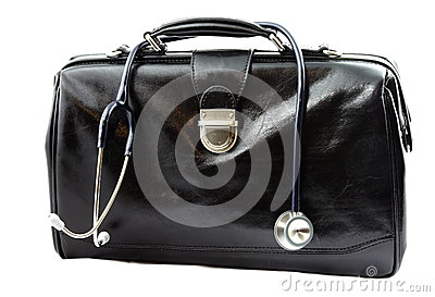 Doctor s bag with stethoscope