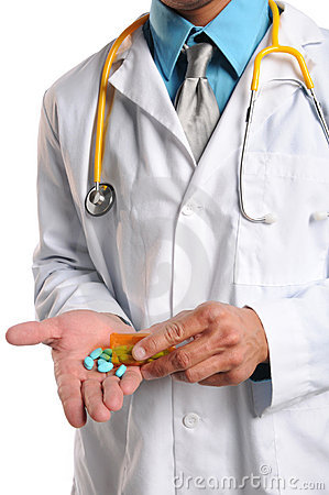 Doctor s Hands With Prescription Pills