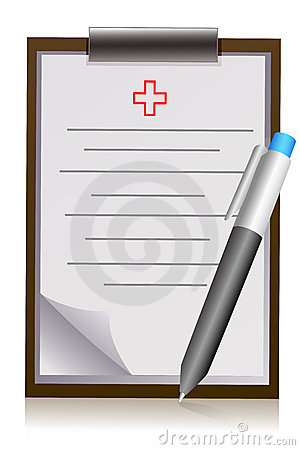 Doctor s letter pad with pen