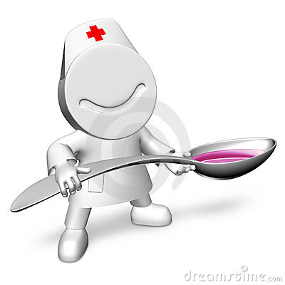 Doctor with a spoon