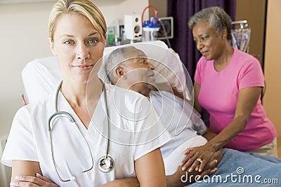 Doctor Standing In Hospital Room