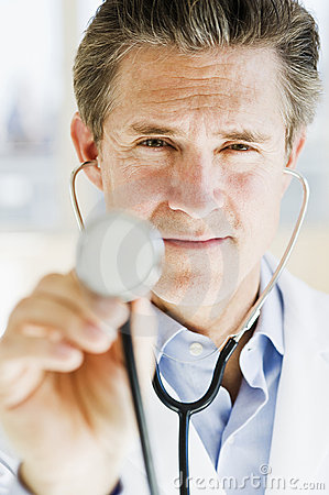 Doctor with stethescope