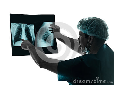 Doctor surgeon radiologist x-ray image