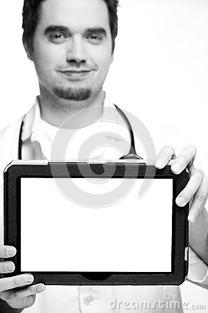 Doctor And Tablet Pc