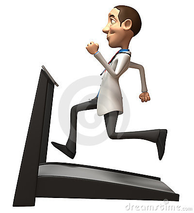 Doctor on a treadmill