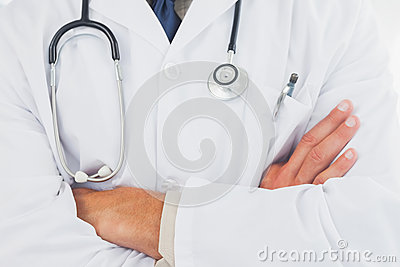 Doctor wearing lab coat