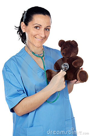 Free Doctor With A Teddy Bear Royalty Free Stock Photo - 3019975