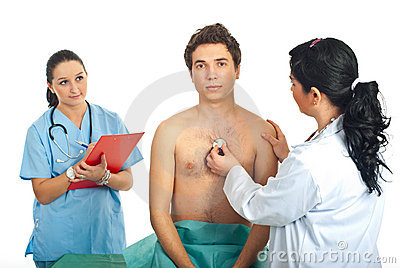 Doctor woman examine patient
